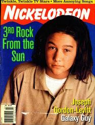 Nickelodeon magazine cover january february 1997 joseph gordon levitt 3rd rock from the sun