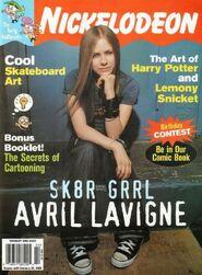 Nickelodeon Magazine cover February 2003 Avril Lavigne