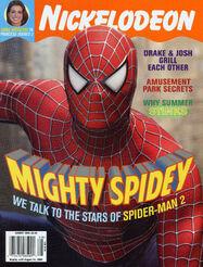 Nickelodeon Magazine cover August 2004 Spider-Man 2