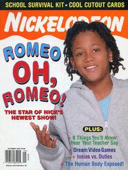 Nickelodeon Magazine cover September 2003 Lil Romeo Miller