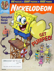 Nickelodeon Magazine cover March 2003 SpongeBob