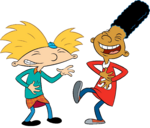 Arnold and Gerald Laughing