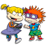 Angelica Pickles with camera and Chuckle Finster in 2018