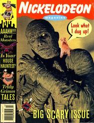 Nickelodeon Magazine cover October 1995 Scary Halloween