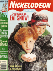 Nickelodeon Magazine cover december january 1995 pete and pete