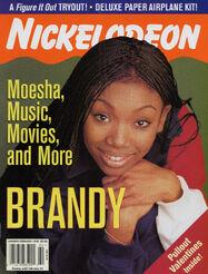 Nickelodeon Magazine cover Jan Feb 1999 Brandy