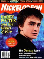 NIckelodeon Magazine cover November 2005 Harry Potter Goblet Fire Daniel Radcliffe