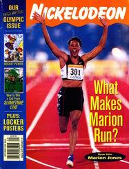 Nickelodeon Magazine cover September 2000 Marion Jones
