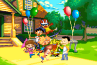 An group picture of the Nicktoons