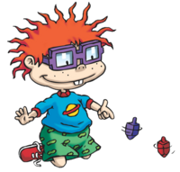 Chuckie Finster playing with dreidels