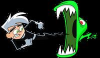 Danny Phantom flying for a ghost