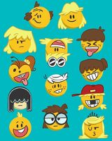 The Loud Family as the emojis