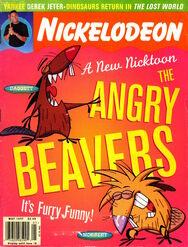 Nickelodeon magazine cover may 1997 angry beavers