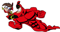 Crimson Chin and Cleft