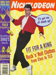 Nickelodeon Magazine cover March 1996 Elvis