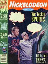 Nickelodeon Magazine cover October November 1994 We Tackle Sports