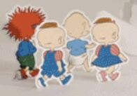 Tommy Pickles Chuckie Finster and Phil and Lil DeVille Back view promo