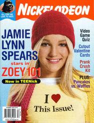 Nickelodeon Magazine cover February 2005 Jamie Lynn Spears Zoey 101