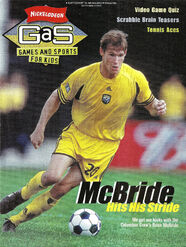 Nickelodeon Magazine GAS games and sports cover September 2001 Brian McBride