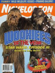 Nickelodeon Magazine cover May 2005 Wookies Star Wars Episode III