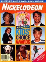Nickelodeon magazine cover april 1997 kids choice awards