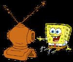 SpongeBob Watching TV