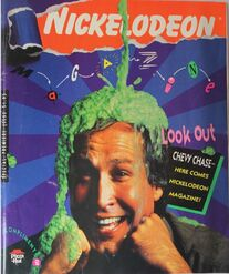 Nickelodeon Magazine Premiere Issue 1990 Chevy Chase Pizza Hut