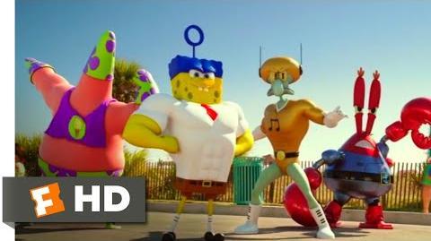 The SpongeBob Movie Sponge Out of Water (2015) - Butt Kicking Scene (7 10) Movieclips