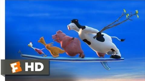 Barnyard (1 10) Movie CLIP - Farm Surfing (2006) HD