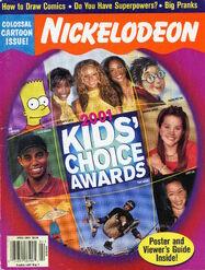 Nickelodeon Magazine cover April 2001 Kids Choice Awards