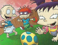 Tommy, Chuckie and Kimi Rugrats Easter 2019