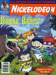 Nickelodeon Magazine cover November 2000 Rugrats in Paris
