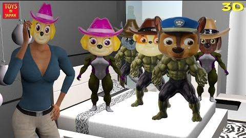 5 Little HULK PAW PATROL Jumping On The Bed & MORE Nursery Rhymes for Children 3D Animation