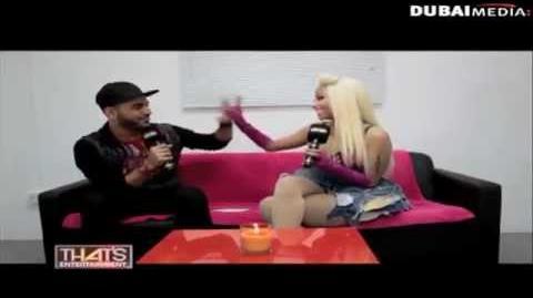 DJ BLISS Nicki Minaj Interview on Thats Entertainment - Dubai One TV