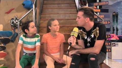 Aidan Gallagher & Lizzy Greene @ Nickelodeon's Nicky, Ricky, Dicky, and Dawn AfterBuzz TV