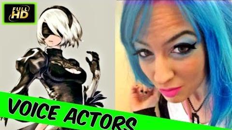 Nier Automata Voice Actors Kira Buckland As 2B - Nier Automata Cutscenes - Nier Automata Characters
