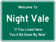 Welcome to Night Vale road sign