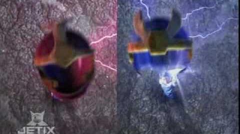 Power Rangers Ninja Storm -Thunder Rangers Morphing