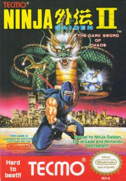 Ninja Gaiden Episode II: The Dark Sword of Chaos, North American cover art