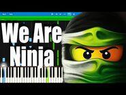 LEGO NINJAGO - We Are Ninja by The Fold - Synthesia Piano Tutorial