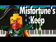 Ninjago Skybound - Misfortune's Keep song - Synthesia Piano Tutorial