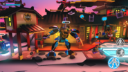 LEGO Brawls (Apple TV) ~ Lloyd in some water mech, which is very similar to Nya's Legacy Samurai X Mech