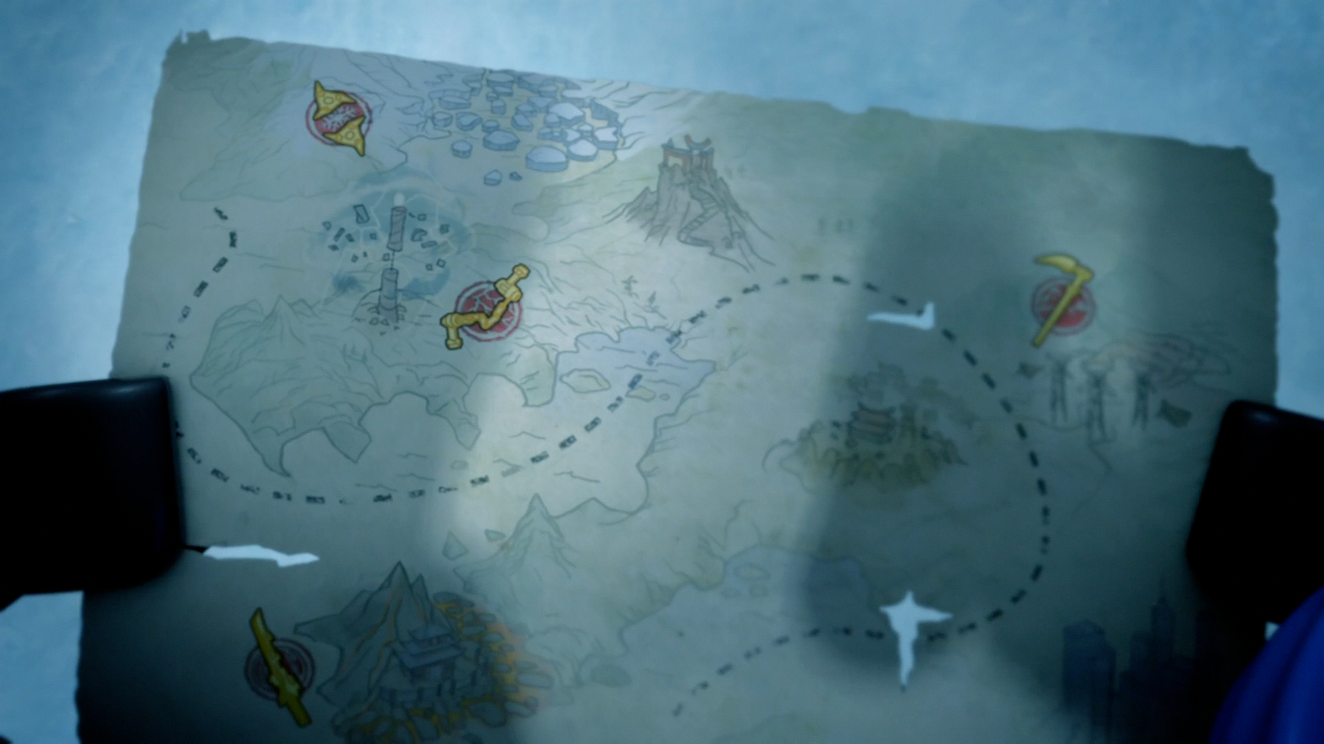 Map of the Golden Weapons