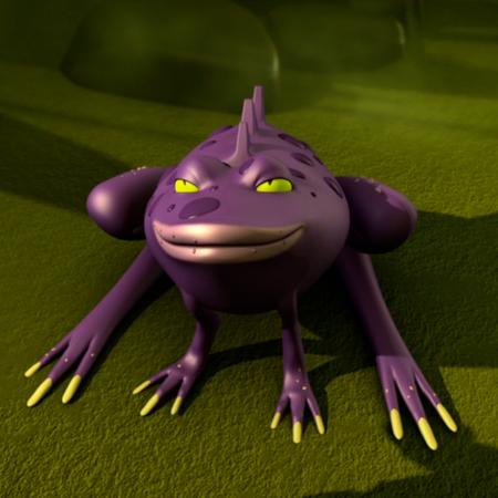 Purple bog frogs