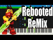 LEGO Ninjago Rebooted ReMix The Weekend Whip by The Fold - Synthesia Piano Tutorial