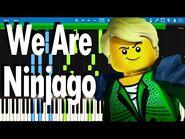 LEGO NINJAGO - We Are Ninjago by The Fold - Synthesia Piano Tutorial