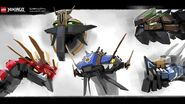 Ninjago Hunted - Dragons (Concept Art)