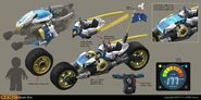 Ninjago Sons of Garmadon - Zane's Bike Concept Art 2