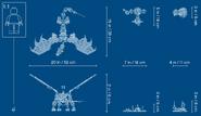 71721 Skull Sorcerer's Dragon Dimensions