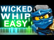 -EASY- LEGO Ninjago - The Wicked Whip by The Fold - Synthesia Piano Tutorial